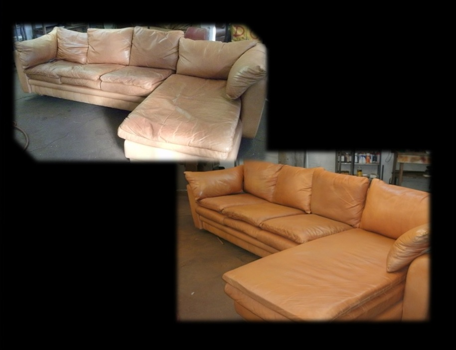 Leather Furniture Care denver leather cleaning company - leather restoration before and