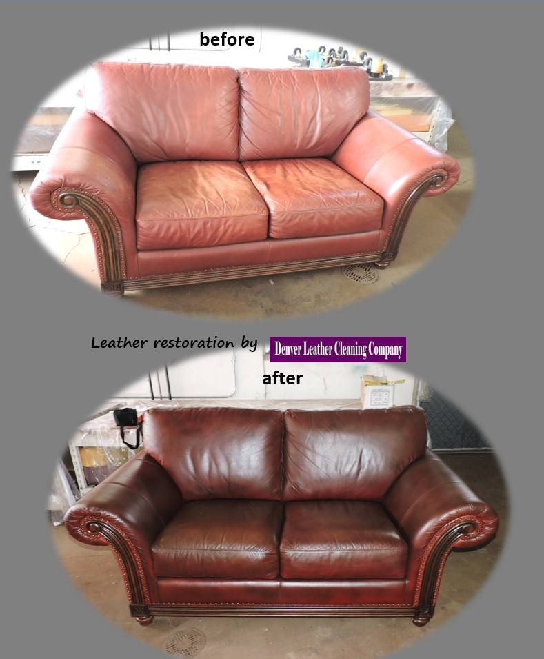 Leather Restoration By Denver Cleaning Looks Like New