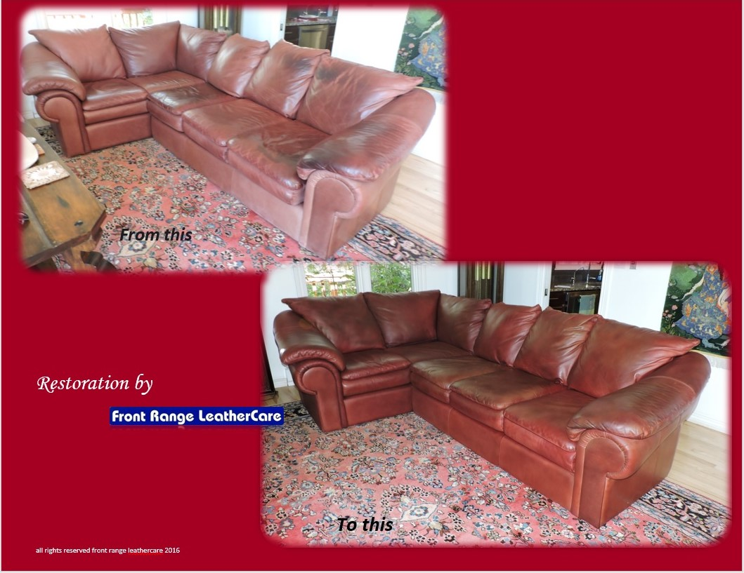 Leather Couch Restoration Denver Leather Cleaning Company Leather Restoration Before And